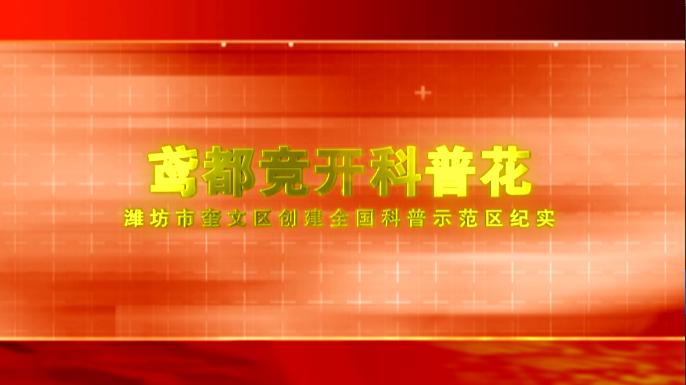 鸢都竞开科普花:潍坊市奎文区创建全国科普示范区纪实